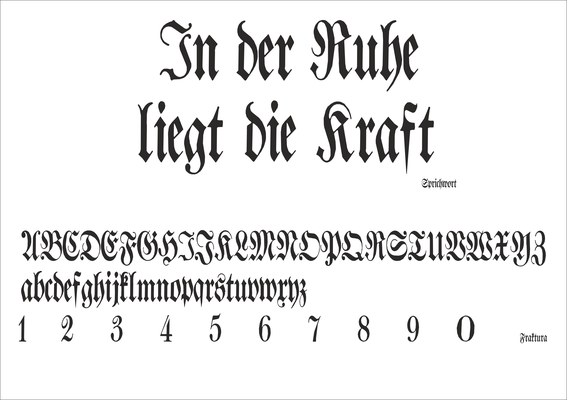 Schriftart Nr. 7