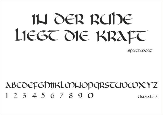 Schriftart Nr. 15