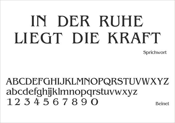 Schriftart Nr. 4