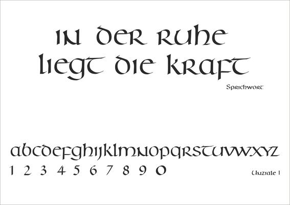 Schriftart Nr. 14
