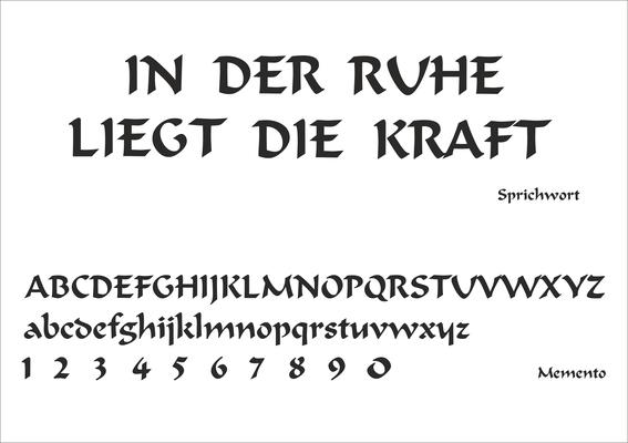 Schriftart Nr. 11