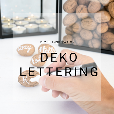 Deko Herbst, Lettering, Nüsse, Inspiration, DIY Blog Schweiz