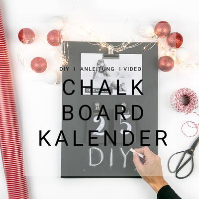 Kalender selber machen, Kreativ Blog Schweiz, DIY Blog, Geschenk Idee, basteln, Chalk Board Kalender, Anleitung, Video
