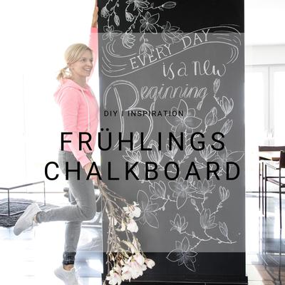 Frühling Chalkboard, Kreide Tafel, Blumen, Magnolie, Springtime, Inspiration, Idee