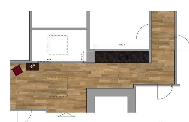 Projekt: penthouse in winterhude; zeichnungen für tischlerei wendt