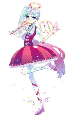 キャラデザ:お菓子・天使・魔法少女がテーマ