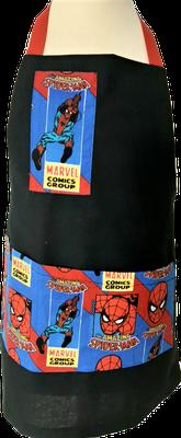Tablier de cuisine noir Spiderman
