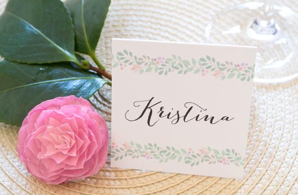 Namenskärtchen (Pocketfold Einladung, Hochzeitseinladung, mint, berry, Hochzeitsset, Kraftpapier, Juhu Papeterie)