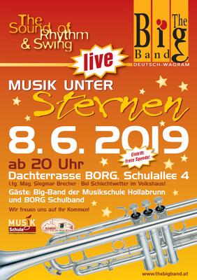 The Big Band Deutsch-Wagram - Musik unter Sternen 2019 am Dach des BORG