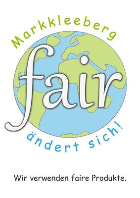 Logo / Signet für das Plakat Fairtradetown Markkleeberg