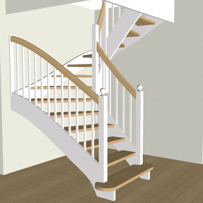 Treppe in 3-D Ansicht