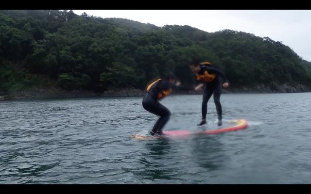 SUP相撲でジャンプ!