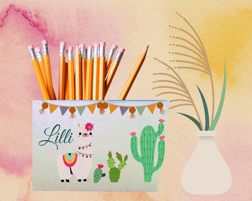 Stiftebox Kaktus Lama Lilli personalisiert