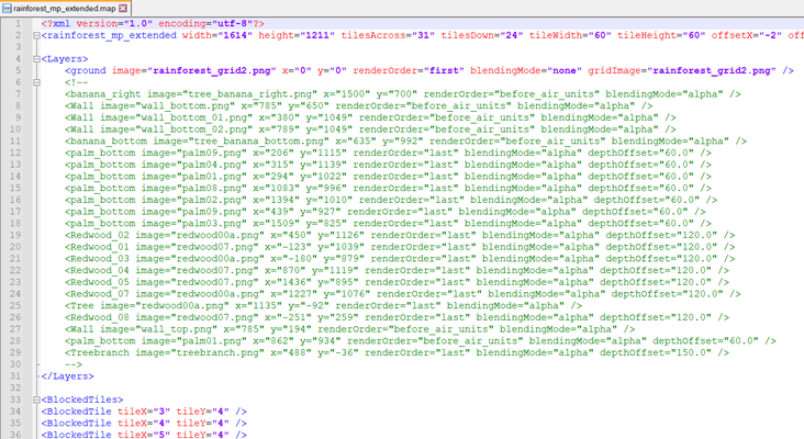 rainforest_mp_extended.map opened in Notepad++ (xml view)