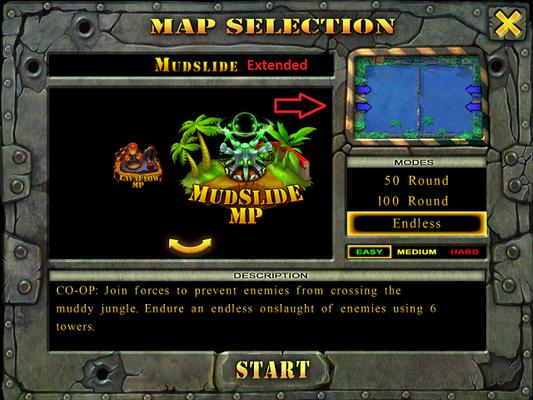 Mudslide (Rainforest) mini map preview