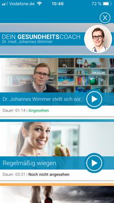 Videobereich mit Dr. Johannes Wimmer