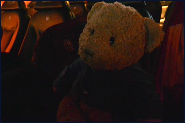 Kasimir schaut gebannt im Kino auf die Leinwand