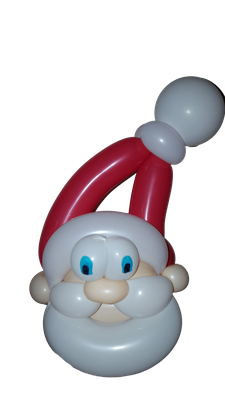 Pére Noël sculpture ballon