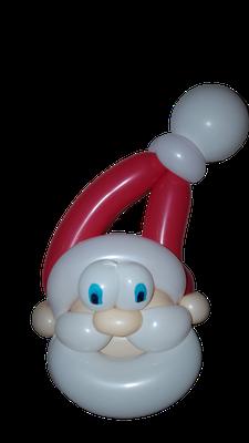 Pére Noël sculpture ballon
