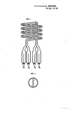 Entladungsröhre, Patentdarstellung
