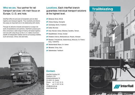 Interrail Flyer - 6 Seiter mit Wickelfalz