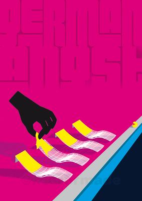 """Plakatentwurf """"German Angst"""", Wettbewerbsbeitrag für Posterwettbewerb """"Mut zur Wut"""""""