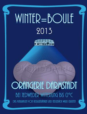 """Plakat """"Winterboule"""" (freie Arbeit) für private Veranstaltung"""