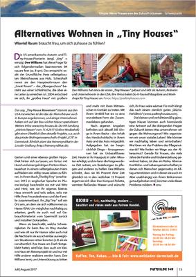 """Beitrag im unabhängigen Frauenmagazin MATHILDE, Heft 149 Schwerpunkt """"Utopia"""""""