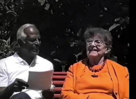 Elisabeth Haich und Selvarajan Yesudian in Ponte Tresa