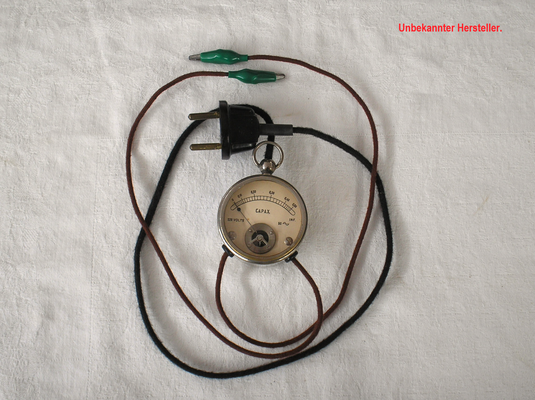 Bild 512 - Unbekannter Hersteller - Kapazitäts Prüfgerät - Fertigungsjahr ca. 1910