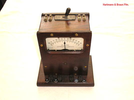 Bild 448 - Hartmann & Braun Frankfurt a/M. - Milli Ampere Meter für Telegraphentechnik - Fertigungsjahr 1920