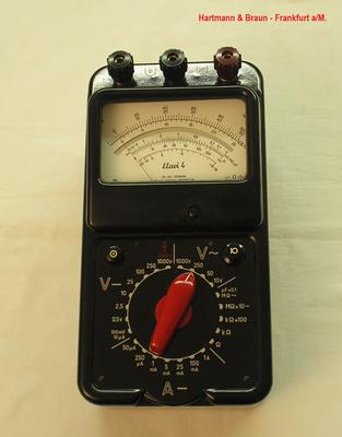 Bild 457 - Hartmann & Braun - Frankfurt a/M. - Multimeter Gleichstrom Typ. Elavi 4 - Fertigungsjahr  1961