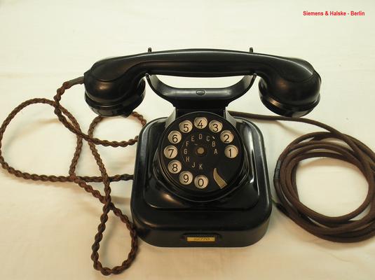 Bild 374 - Telefon W 28 Modell 26 - Fa. Siemens & Halske Berlin - Fertigungsjahr 1928