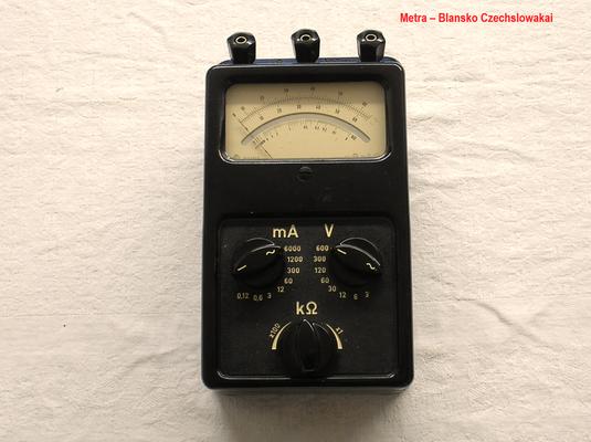 Bild 510 - Metra - Blansko - Czechslowakia - Multimeter W / G / Ohm - Fertigungsjahr  1956