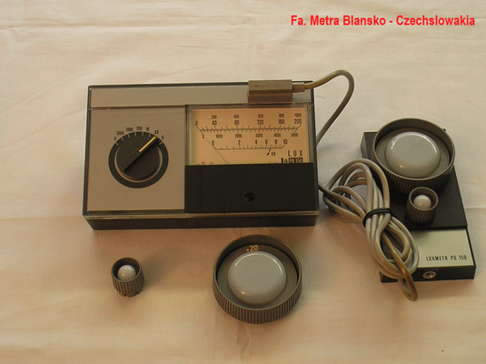 Bild 330 - Lichtstärke Messgerät Luxmeter Metra Blansko Czechslowakia -   Fertigungsjahr 1972