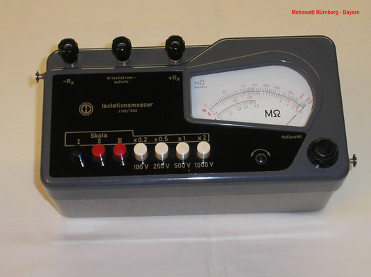 Bild 456 - Metrawatt Nürnberg - Bayern - Isolationsmessgerät Typ. J 100 / 1000 - Fertigungsjahr  1962