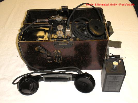 Bild 470 - Telefon & Normalzeit GmbH Frankfurt a/M. - OB Feldfernsprecher FF 33 mit Zubehör - Fertigungsjahr  1939