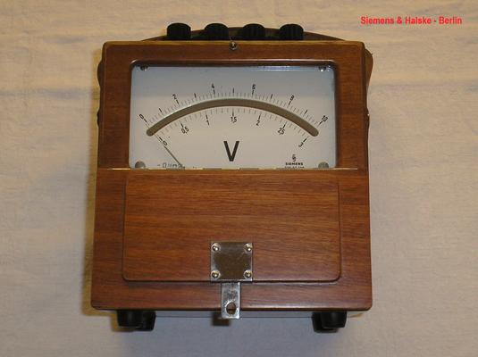 Bild 473 - Siemens & Halske - Berlin - Labor Voltmeter Gleichspannung bis 30,0 Volt - Fertigungsjahr 1958