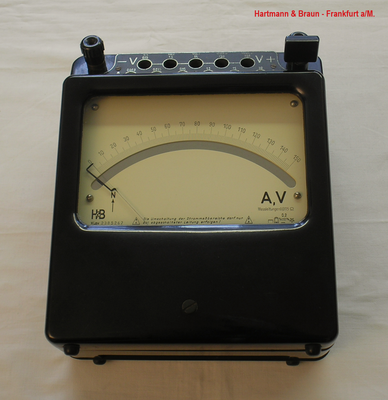 Bild 458 - Hartmann & Braun - Frankfurt a/M. - Labor Multimeter Typ. H L av - Fertigungsjahr  1945