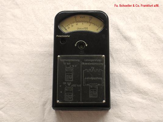 Bild 480 - Fa. Schoeller & Co. Frankfurt a/M. - Volt / Ohmmeter ( Leitungsprüfer ) - Fertigungsjahr 1949