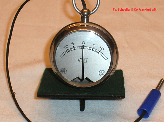 Bild 520 - Fa. Schoeller & Co - Frankfurt a/M. - Taschen - Galvanometer - Fertigungsjahr ca. 1910 - 20