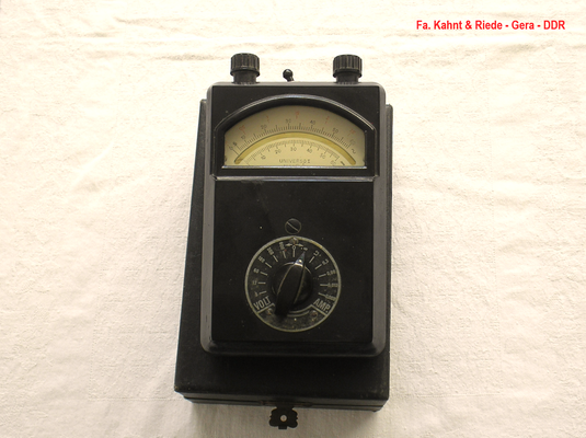 Bild 472 - Kahnt & Riede Gera - DDR - Multimeter 1 000 Ohm / Volt - Fertigungsjahr  1949