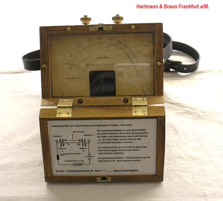 Bild 491 - Hartmann & Braun Frankfurt a/M. - Isolationsmesser mit Galvanometer - Fertigungsjahr  1913