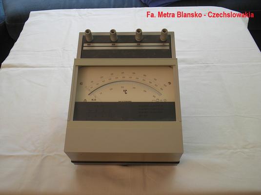 Bild 326 - Präzisions Millivoltmeter geeicht in ° Celsius  Metra Blansko Czechslowakia -  Fertigungsjahr 1989
