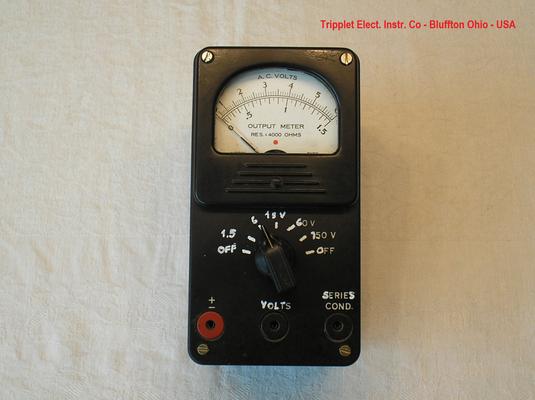 Bild 528 - Triplett Elect. Inst. Co - Ohio - USA - Output Meter AC - Typ. 650-SC - Fertigungsjahr ca. 1940