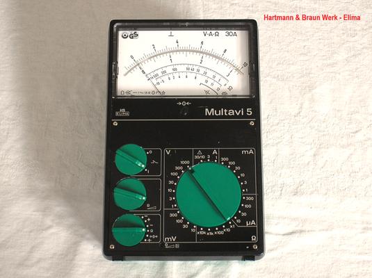 Bild 525 - Hartmann & Braun Frankfurt a/M. - Multimeter Multavi 5 - Werk Elima - Fertigungsjahr 12. 1984