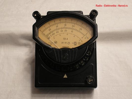 Bild 531 - Radio - Elektronika - Narod.ru - Multimeter Modell TL - 4 - A / V / Ohm - Fertigungsjahr 1966