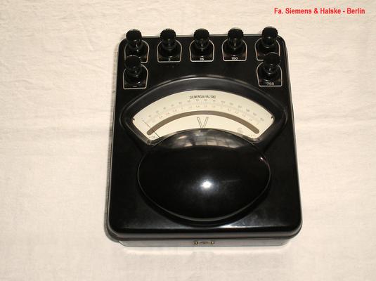 Bild 509 - Fa. Siemens & Haalske - Berlin - Labor Voltmeter bis 750 Volt Gleichspannung - Fertigungsjahr  ca. 1936