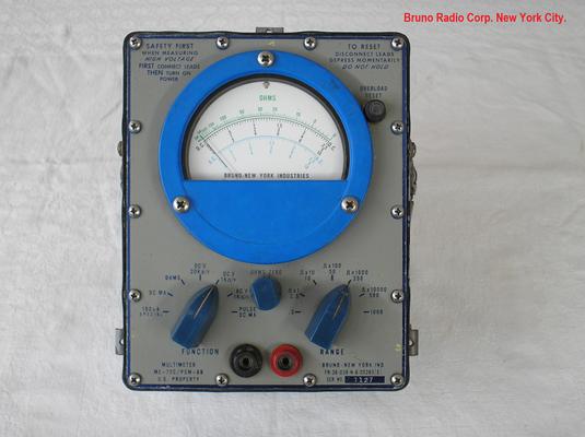 Bild 511 - Bruno Radio Corp. New York City - Multimeter für die US - Marine gefertigt - Fertigungsjahr ca.  1960
