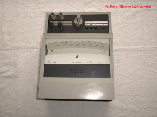 Bild 493 - Metra - Blansko - Czechslowakia - Präzisions  Ampere Meter Gleich / Wechselstrom Typ. FL 21 - Fertigungsjahr  1988